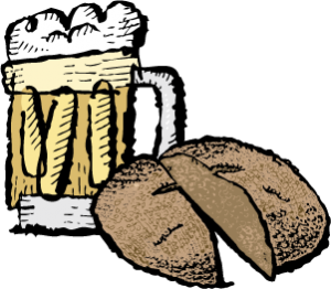 Beer and bread illustration