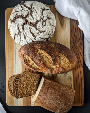Wholey Whole Grain Breads Country Wheat Multi Grain Sesame Raisin Bread