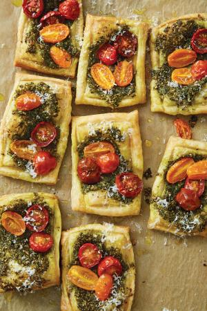 Carrot Top Pesto Tartlets by Penny De Los Santos