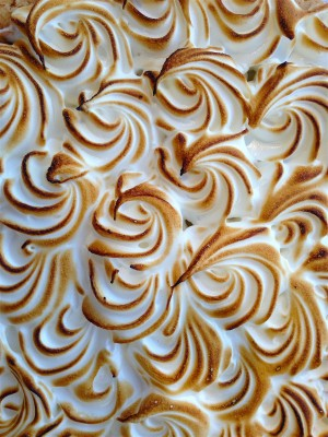 lemon merenga a meringue tart close up from our pastry making class