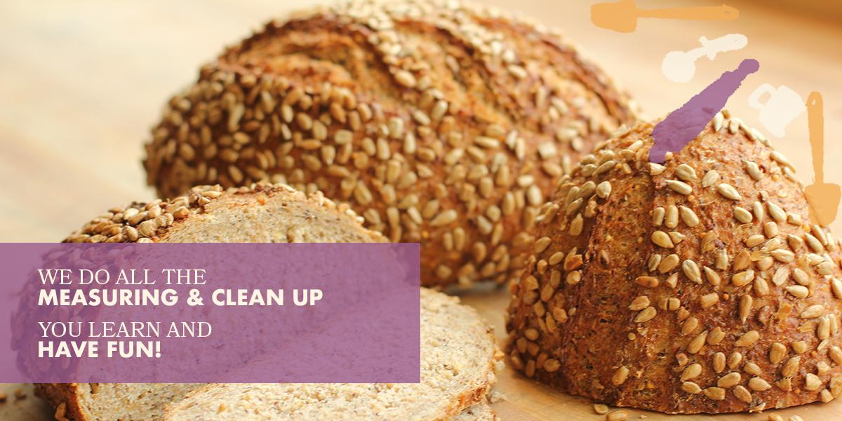 Bake our Sesame Semolia bread recipe at a cooking class near me